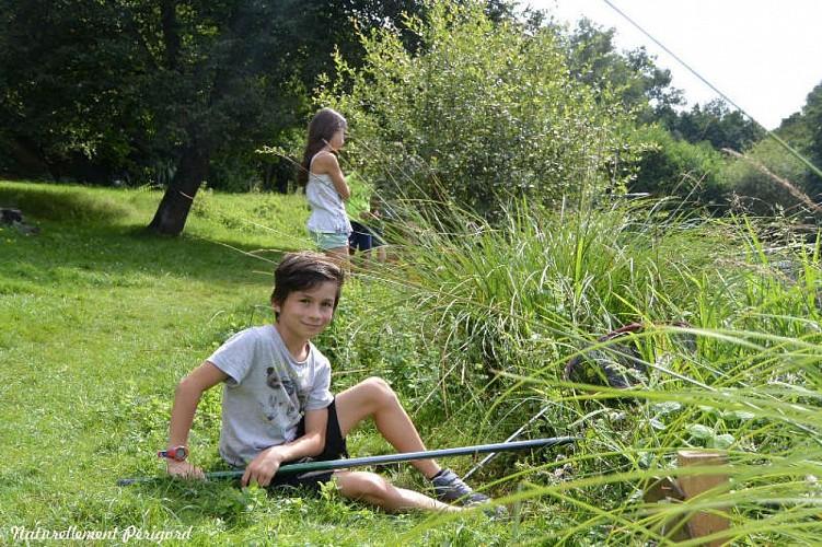 Pêcheur au moulin du châtin