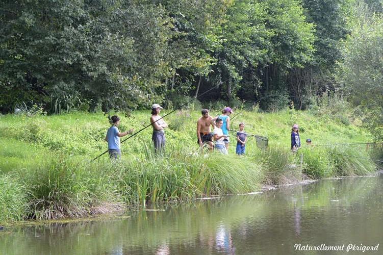 Pêcheurs au moulin du châtin