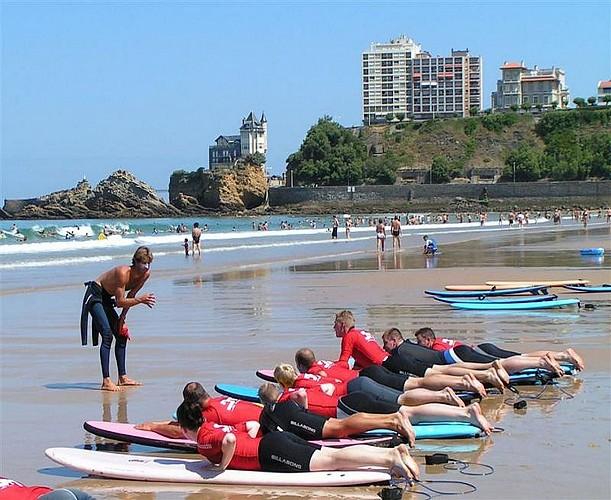 Cours de surf côte des basques
