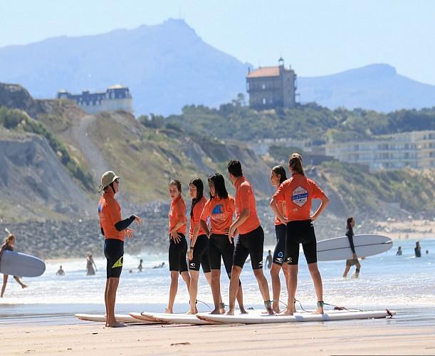 cours de surf Biarritz surf training