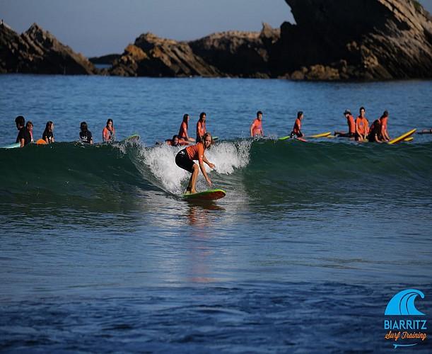 Biarritz surf training cours côte des basques