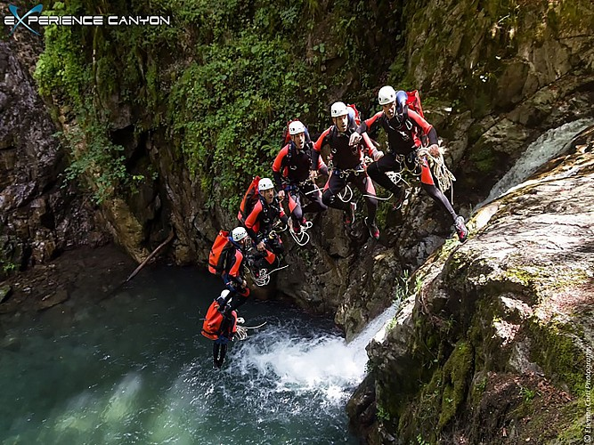 Expérience Canyon - Lons - en groupe