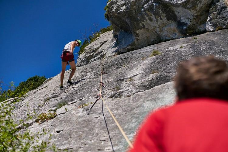 Escalade à la falaise d'Arguibelle III - LANNE-EN-BARETOUS