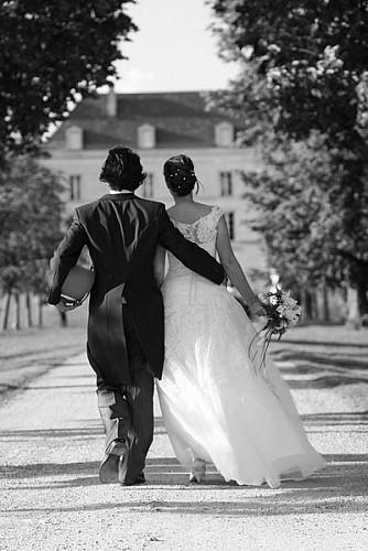 Photo d'un mariage au Château de la Bône