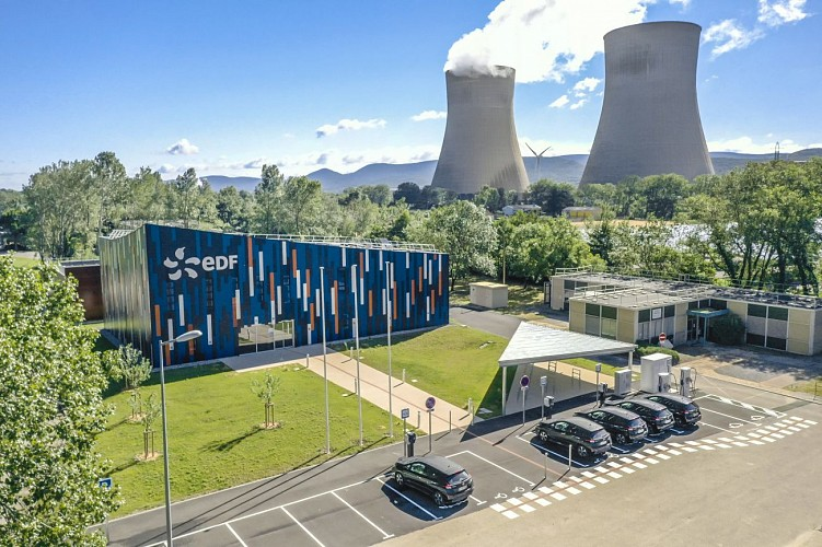 Public information centre of the nuclear power station EDF in Cruas-Meysse
