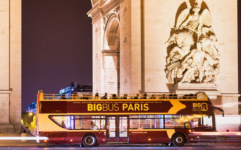 BigBus Paris: Panoramic Night Bus Tour with Audio Guide